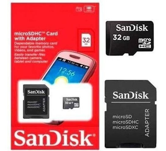 Cartão Memória Micro Sd 32gb Classe 4 + Adaptador Câmera Ip