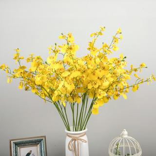 Planta De Flor Artificial Artificial Amarilla En Maceta Casa