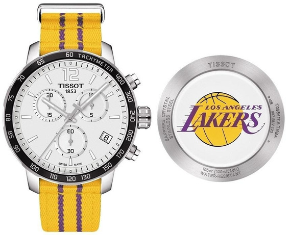 Autentico Reloj Tissot Quickster Lakers T0954171703705