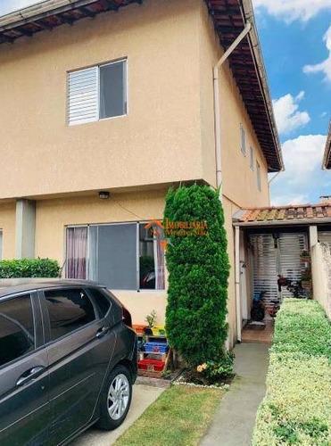 Sobrado Com 3 Dormitórios À Venda, 90 M² Por R$ 350.000,00 - Cidade Aracilia - Guarulhos/sp - So0743