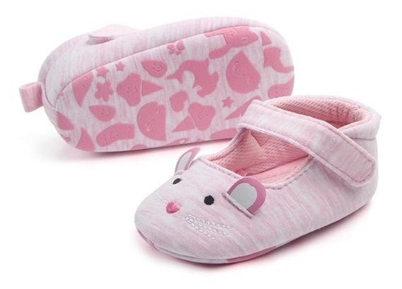 Zapatos Y Tenis De Bebé Niña Ratón Gato Conejo Orejas Carita