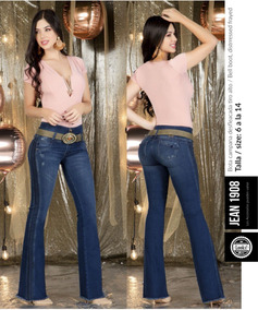 Jeans Y Pantalones Mujer, Tiro Alto Bota Campana