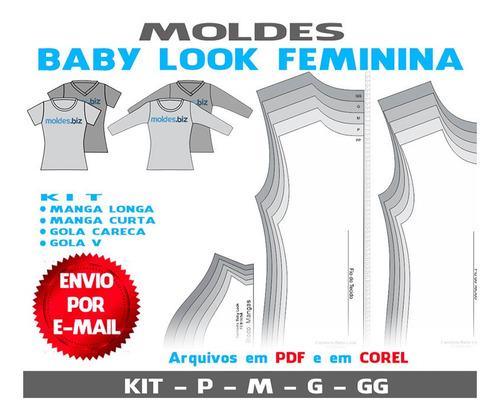 Baby Looks Moldes Camisetas Femininas