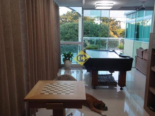 Linda Cobertura Com 3 Dormitórios À Venda, 160 M² Por R$ 980.000 - Bosque Da Praia - Rio Das Ostras/rj - Co0053