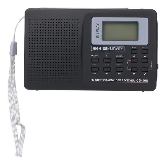 Rádio Portátil Fm /am /sw Rádio Stereo Digital Multiband