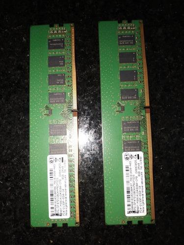 Imagem 1 de 2 de 2 Memórias Ram Pc4 8gb 2rx8 Desk Top Gamers  / Servid Sedex