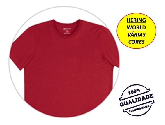 Camiseta Hering Manga Curta 0201 - World - Gola Careca