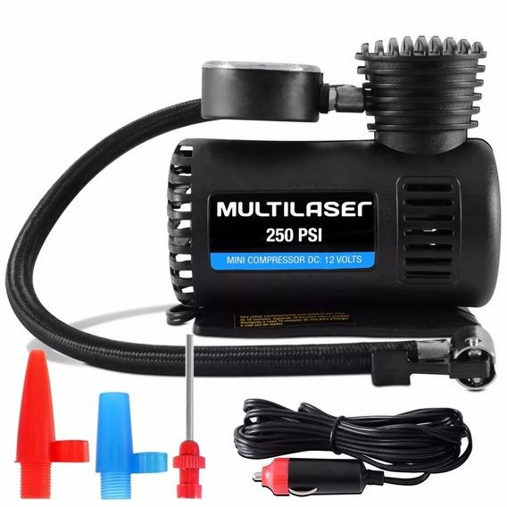 Compressor De Ar Multilaser Au601 - 12v - 3 Adaptadores