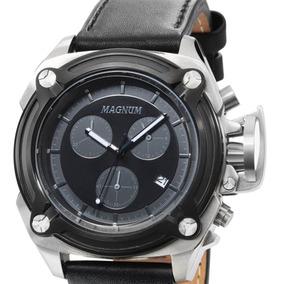 Relógio Magnum Multifunção Ma34496c Prateado Original + Nf