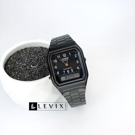 Relógio Casio Vintage Analógico Preto Aq230 Com Garantia