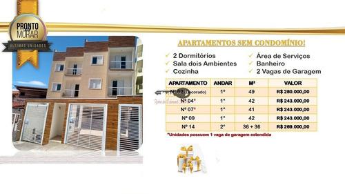 Apartamento, Em  Santo André, Com 2 Vagas.. - 47274