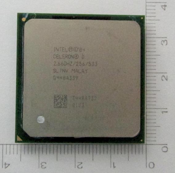 Processador Intel Celeron D 2,66 Ghz /256/533 Socket 478