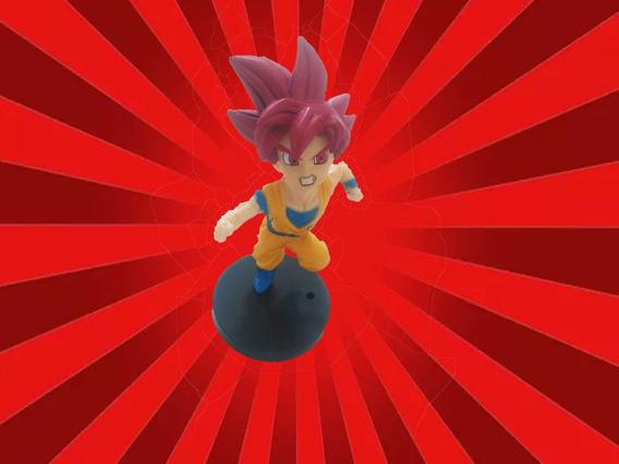 Goku Super Saiyajin Deus Dragon Ball Z Heroes Figura Ação