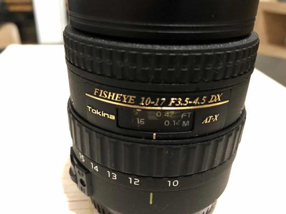 Lente Tokina P/canon 10-17mm F 3.5/4.5 Atx/dx Fisheye