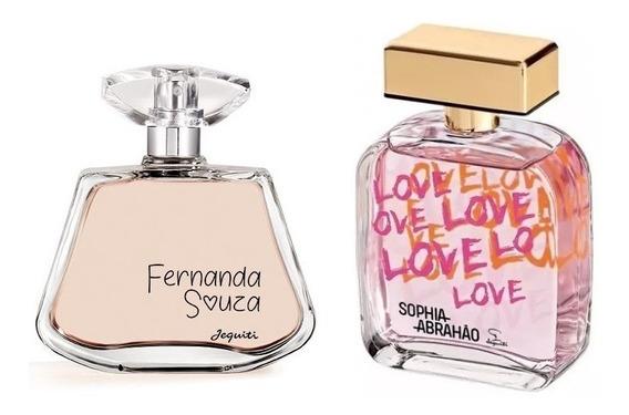 Perfumes Jequiti: Fernanda Souza + Sophia Abrahão 100ml Cada