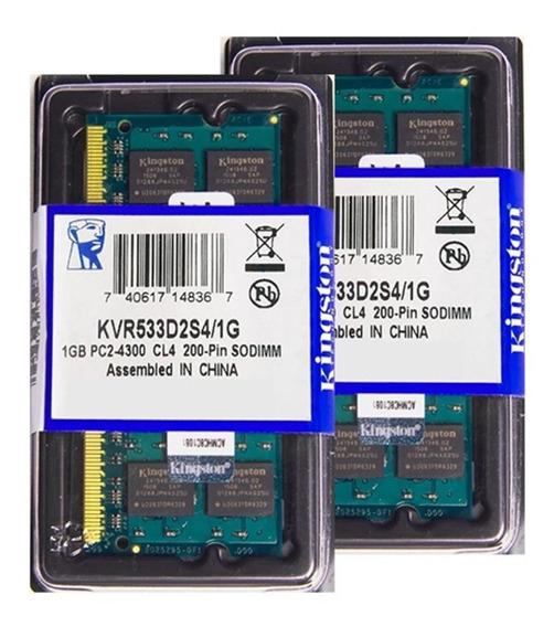 Memória Kingston Ddr2 1gb 533 Mhz Notebook 16 Chips 1.8v