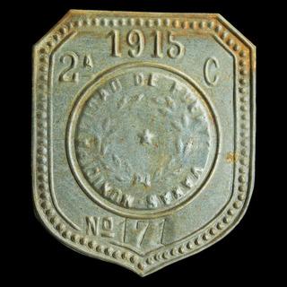 ¬¬ Placa Patente Chile Puerto Varas Año 1915 Carro Sangre Zp