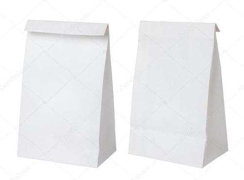 100 Bolsas Blanca Con Impresión Personalizada A 1 Tinta