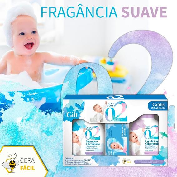Kit Zero A Dois Shampoo Condicionador Sabonete Atacado 8un