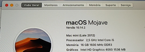 Mac Mini Late 2012 I5 16 Gb Ram-ssd 240gb Aceita Troca