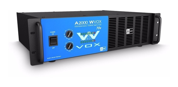 Amplificador Machine W Vox A 2000 70v