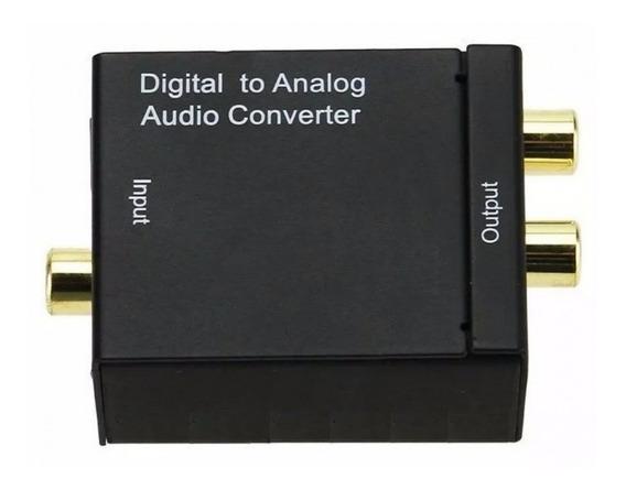 Conversor De Audio Digital Para Analogico, Coaxial Para Rca
