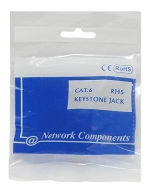 Conector Fêmea Rj45 Keystone Cat6 Branco Network Components
