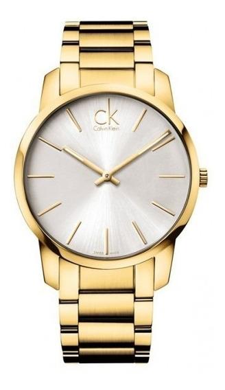 Reloj Calvin Klein Dorado Para Hombre K2g21546