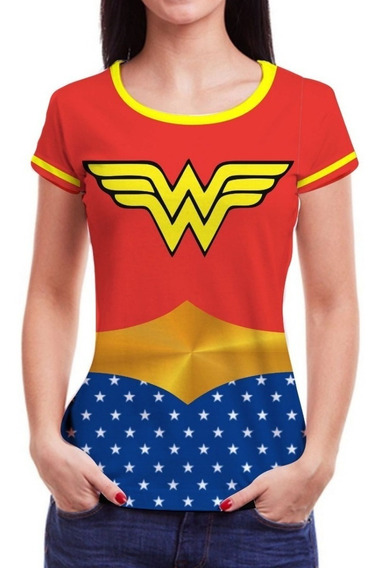 Camiseta Camisa Feminina Roupas Herois Blusa Marvel 3d