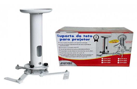 Suporte De Teto Para Projetor Com Tubo De 20cm - Linha Stan