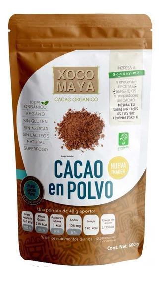 Polvo De Cacao Orgánico 500 G Xoco Maya