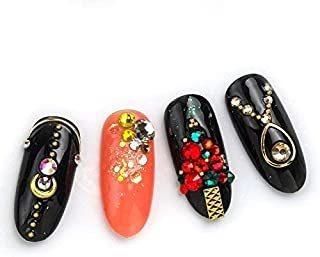 Bluezoo Colorful Designed Art Rhinestone, Gemstone & Caviar