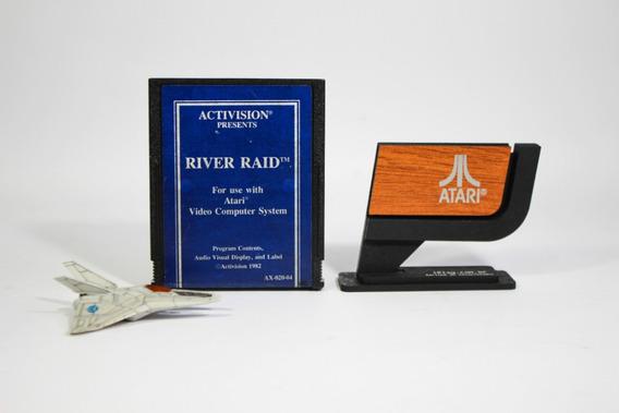 River Raid Activision [ Atari 2600 Blue ] Azul Ax-020-04 Eua