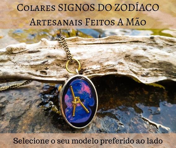 Colar Feminino Signos Astrologia Horóscopo + Brinde