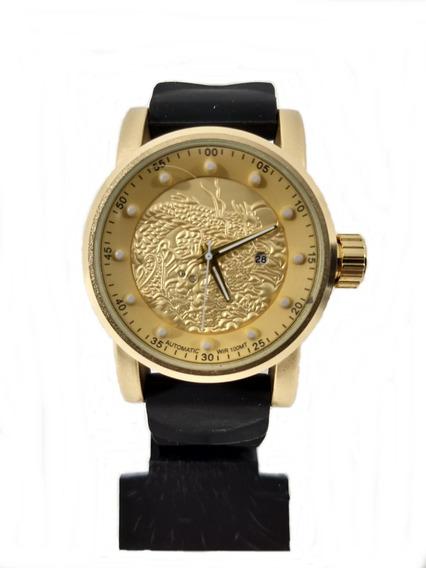 Relógio Esportivo Dourado 1322 Masculino + Caixinha Promoção