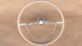 Volante Branco Marfim Do Fusca Karmann Ghia Original