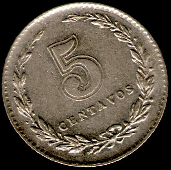 Spg Argentina 5 Centavos 1942