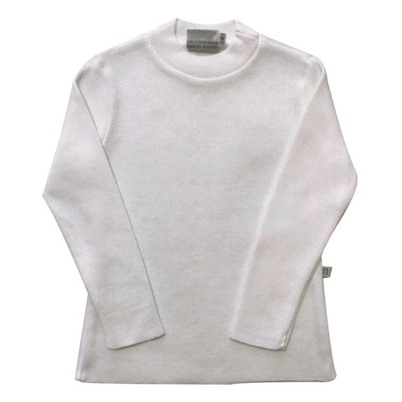 Blusa Gola Careca Canelada Branca 54148004 Noruega