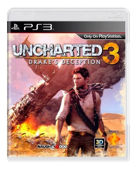 Uncharted 3 Drakes Deception Ps3 Mídia Física Pronta Entrega