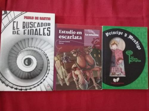 3 Libros De: Pablo De Santis, Arthur Conan Doyle, Mark Twain