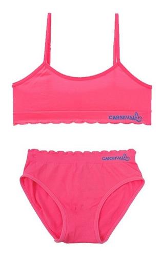 Conjunto Top Y Calzón Bikini Niñas Cn4080-11080