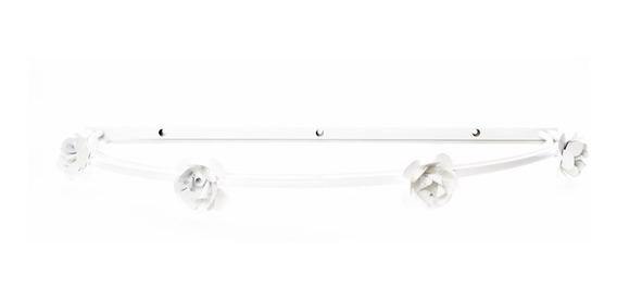 Dossel Parede Liso Com Flores Brancas Quarto Bebê