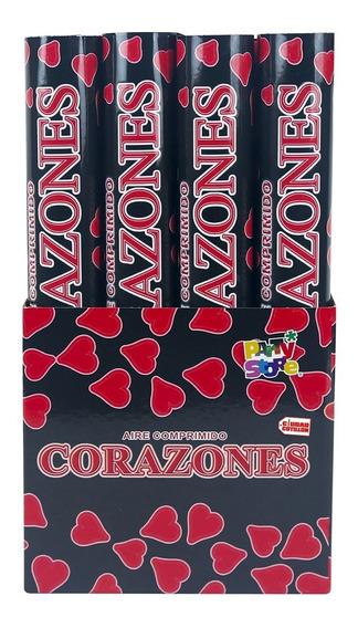 Cañón Lanza Papeles Corazones Confetti - Ciudad Cotillón