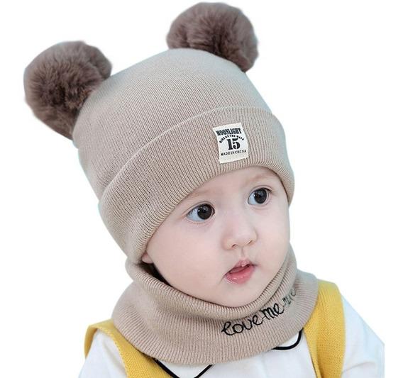 Set Gorrito + Cuello Para Bebe-niños, Calidad Invierno Sale