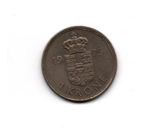 1 Krone - Dinamarca - 1975