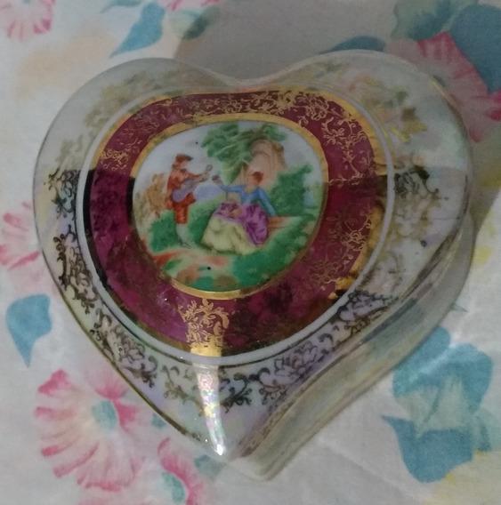 Antigo Porta Joias Porcelana Formato Coração- Nº 6382n