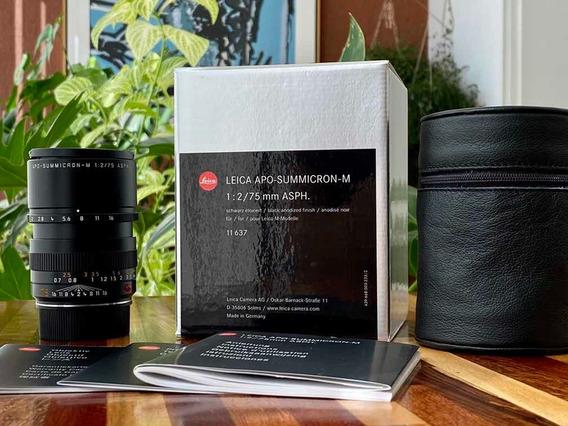 Leica Apo-summicron-m 1:2/75 Mm Asph. 11637