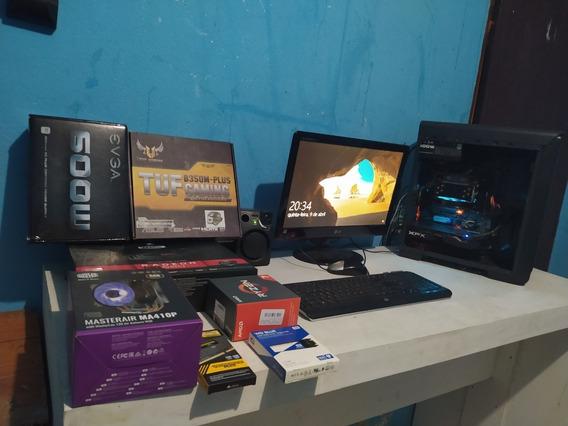 Setup Gamer Completo 16nucleos Rx580 8gb Ssd 500gb 8gb Ram