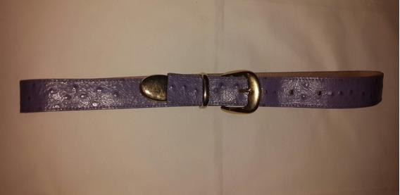 Cinturón Cuero Lila Mujer.nª 80.san Isidro
