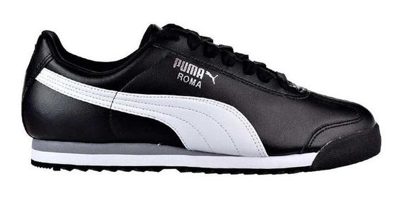Zapatillas Moda Puma Roma Basic Negro/blanco - Envio Gratis